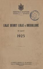 Ligje-Dekrete-1925
