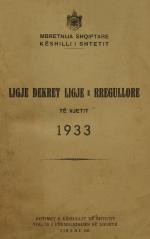 Ligje-Dekrete-dhe-Rregullore-1933