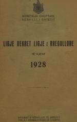 Ligje-dhe-Dekrete-1928