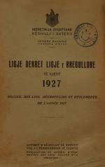Ligje-dhe-dekrete-1927