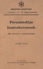 Përmbledhje instruksionesh për nënpunësin e regjistrimit 1929